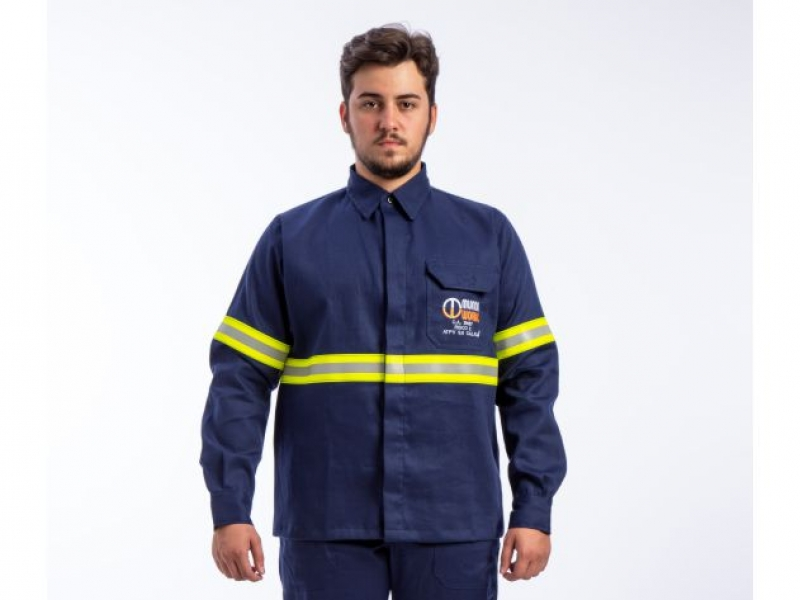 Camisa Work Par Mundi Work com Refletivo- Risco 2