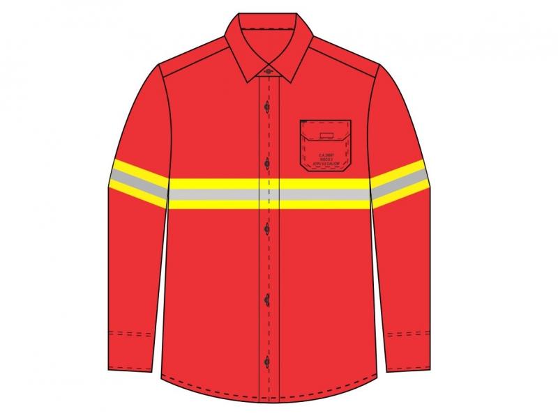 Camisa Safe Slim Mundi Work com refletivo - Risco 2